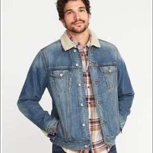 ✨NWT✨ OLD NAVY Sherpa-Lined Denim Jacket